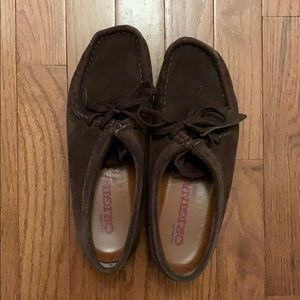 Dark Brown Clark's Wallabees